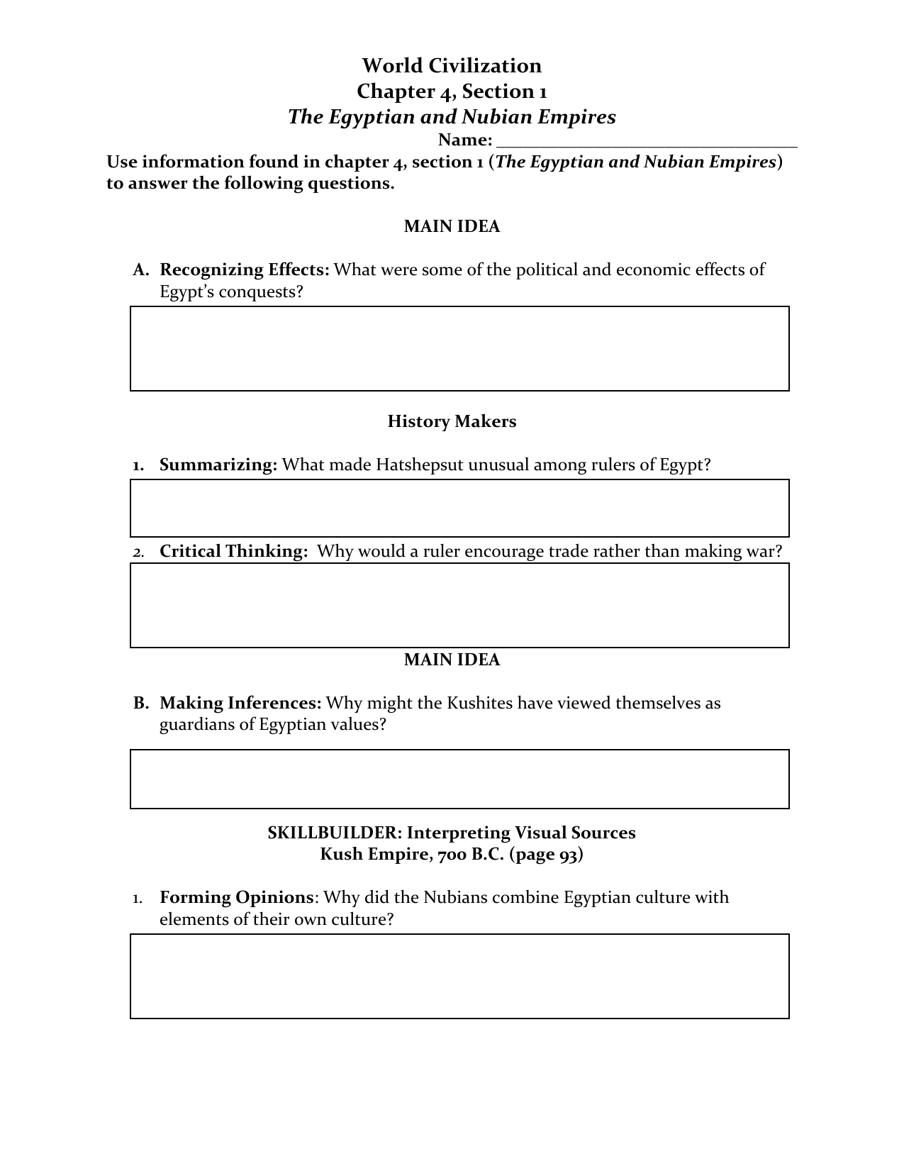 Section 1 Assignment