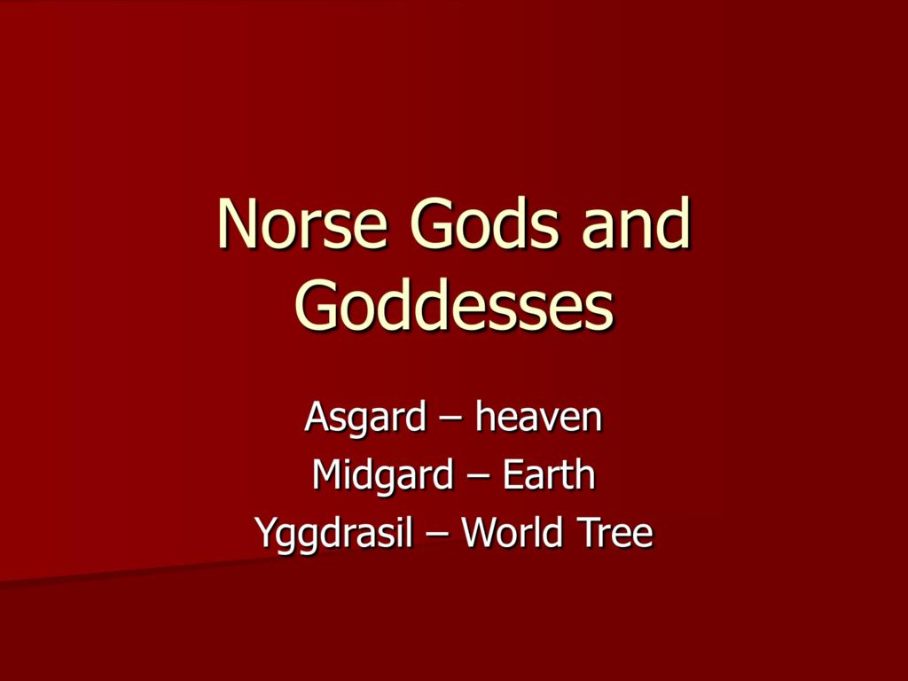 Norse Gods Chart Dofacscounab Norse Mythology