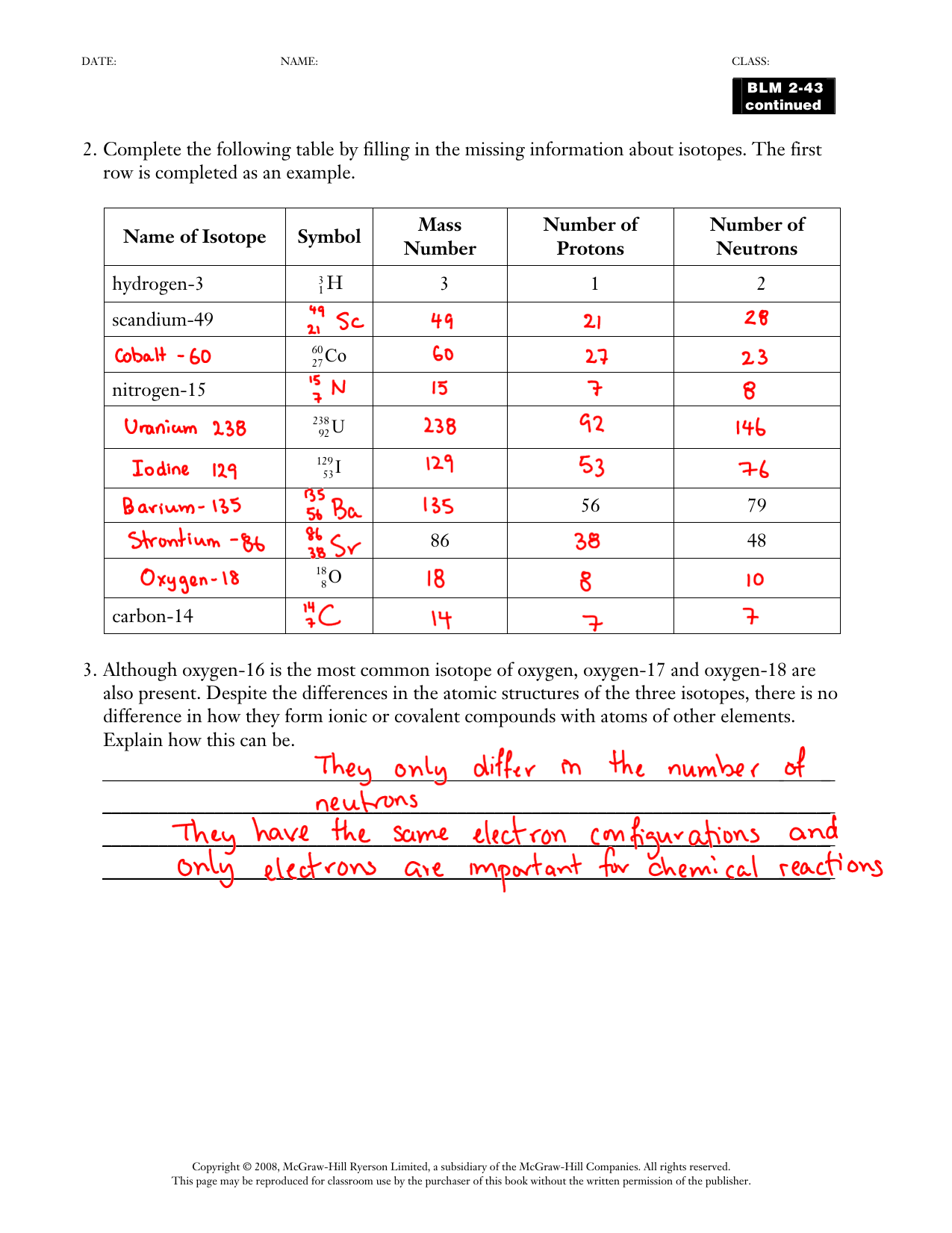 Mystery Periodic Table 2 Worksheet Answers