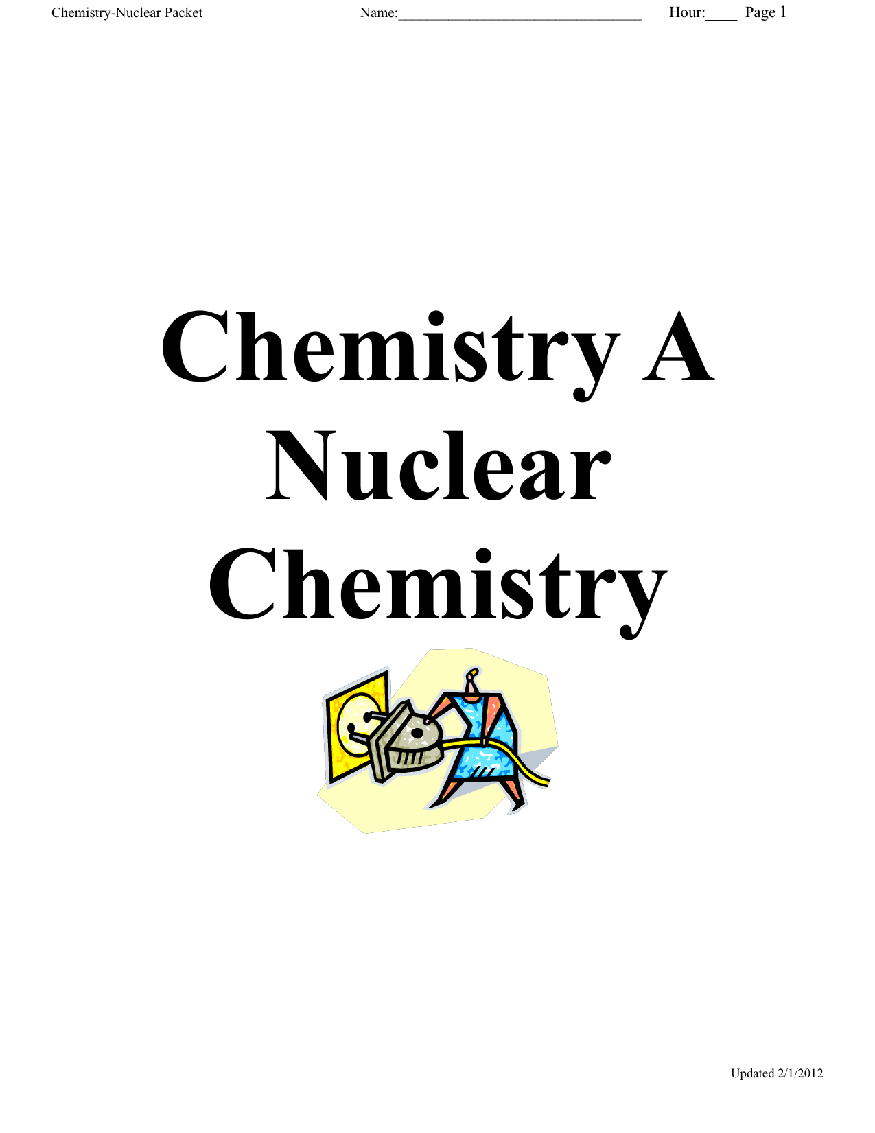 Nuclear Chemistry Packet