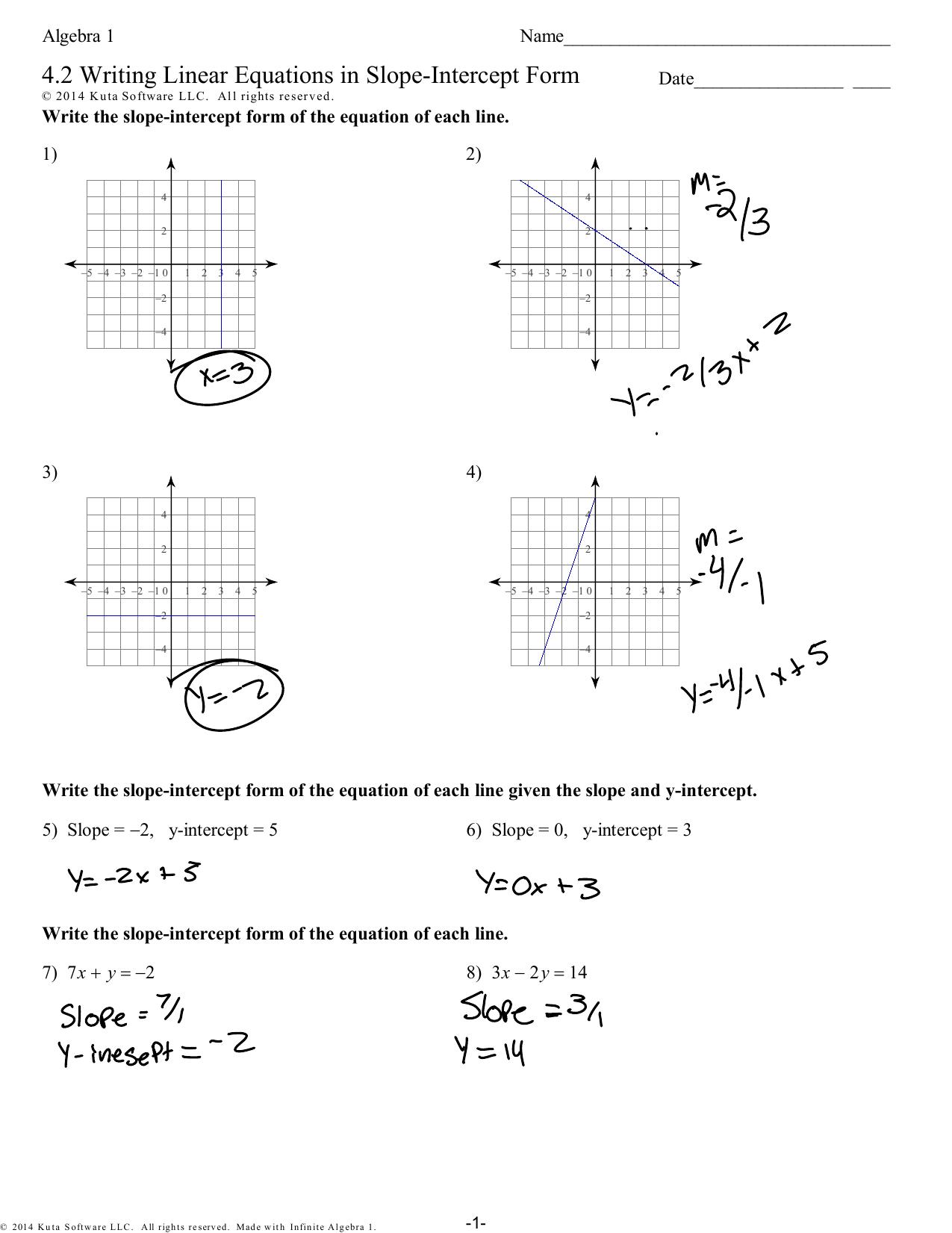 4 2 Writing Equations Wkst