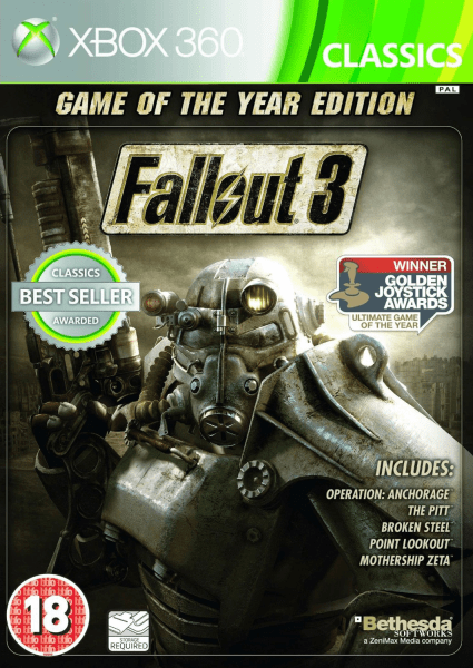 Fallout 3 Game Of The Year Edition Classics Xbox 360