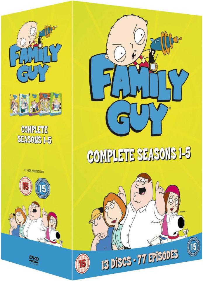 Family Guy Season 1 5 DVD Zavvi