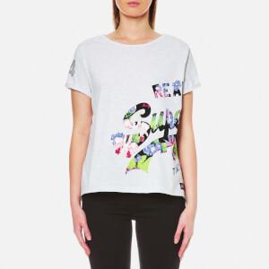 Superdry Women's Vintage Logo Wrap Round Boyfriend T-Shirt - Ice Marl