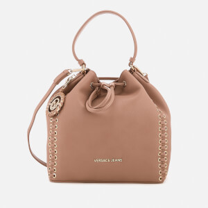 Versace Jeans Women's Whip Stitched Bucket Bag - Nude