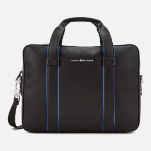 Tommy Hilfiger Men's Pop Stripe Computer Bag - Black/Sodalite Blue