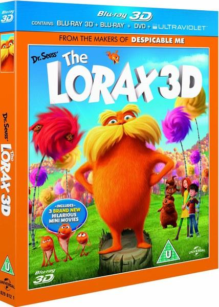 Dr Seuss The Lorax 3D 3D And 2D Blu Ray DVD And UltraViolet Copy Blu Ray Zavvi