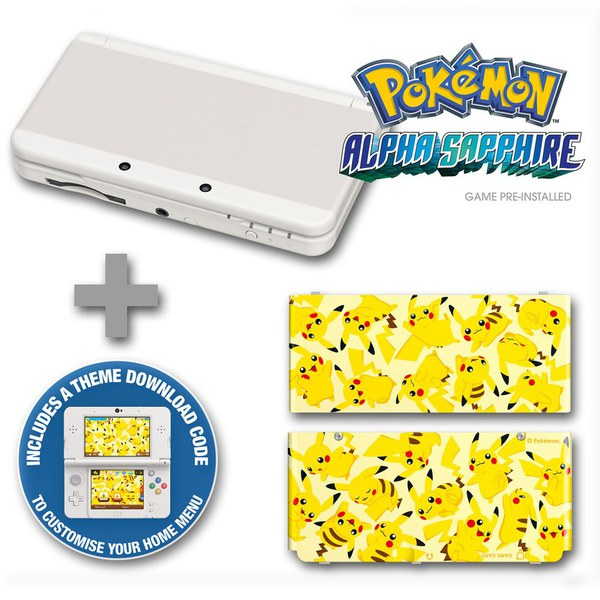 New Nintendo 3DS Pokmon Alpha Sapphire Pack Nintendo Official UK Store