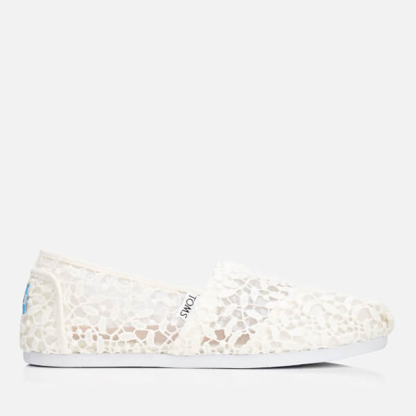 TOMS White Lace Leaves Classic