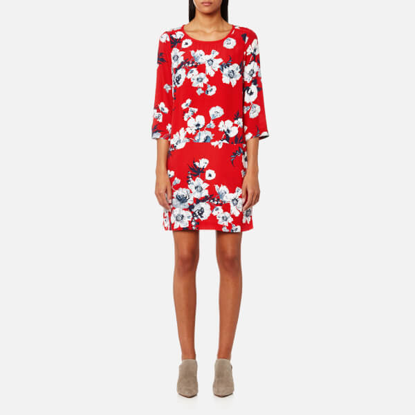 Joules Women's Ambion Woven Shift Dress - Red Posy: Image 01