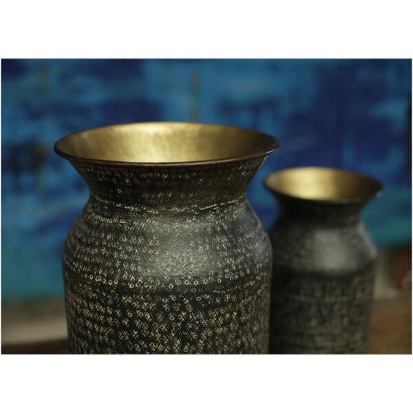 Nkuku Dando Brass Pot - Antique Brass - Small