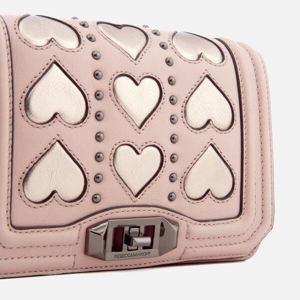 Rebecca Minkoff Women's Heart Small Love Cross Body Bag - Nude/Copper