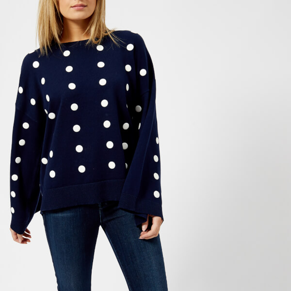 MICHAEL KORS Women's Dot Oversized Top - True Navy