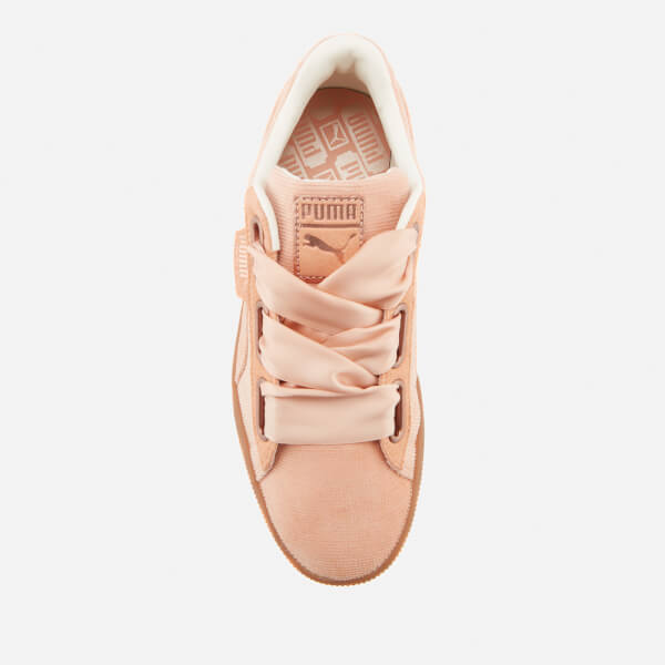 Puma Women's Basket Heart Corduroy Trainers - Dusty Coral