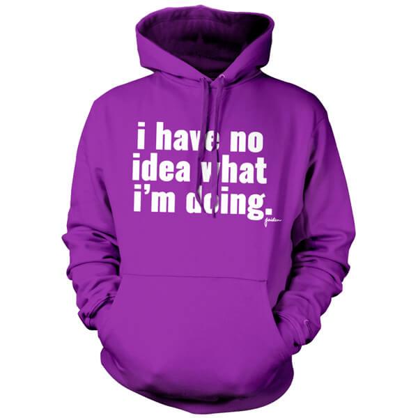 Jaiden I Have No Idea Hoodie Purple IWOOT