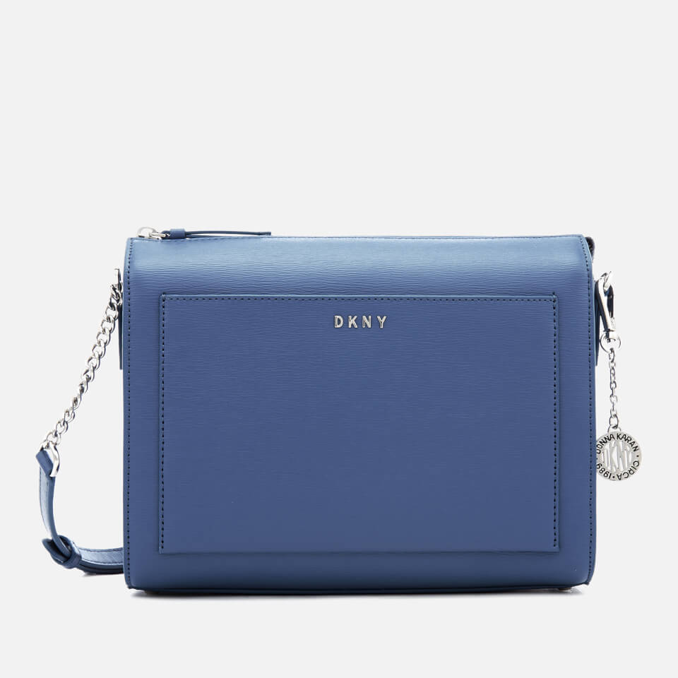 DKNY Womens Bryant Medium Box Cross Body Bag Blue Jay