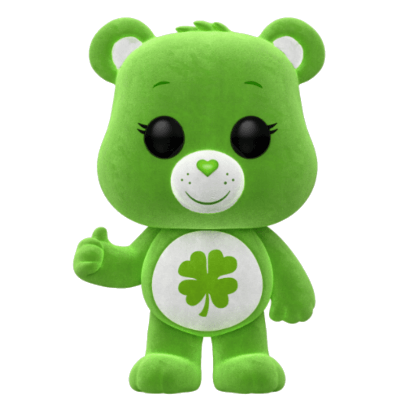 Care Bears Good Luck Bear Flocked EXC Pop Vinyl Figure