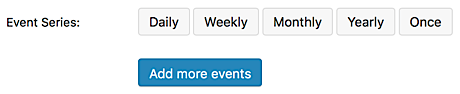 Options for recurring event types in Events Calendar PRO