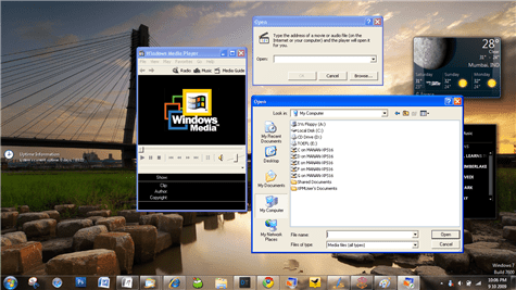 windows virtual pc windows xp mode applications running media player classic windows 7