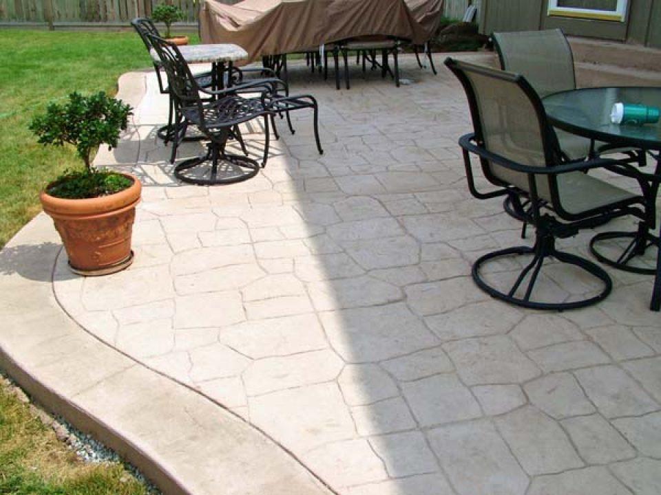 probuilt pool patio stamped concrete