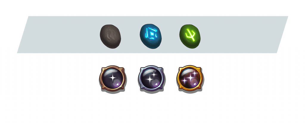 Ability tokens tier 1, 2, and 3