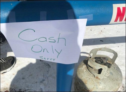 cash only money stopped working for fuel