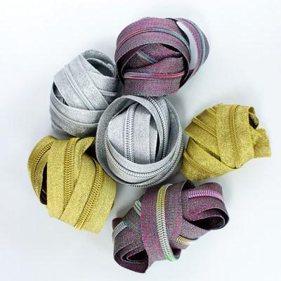 Zippers by the Yard metallic2