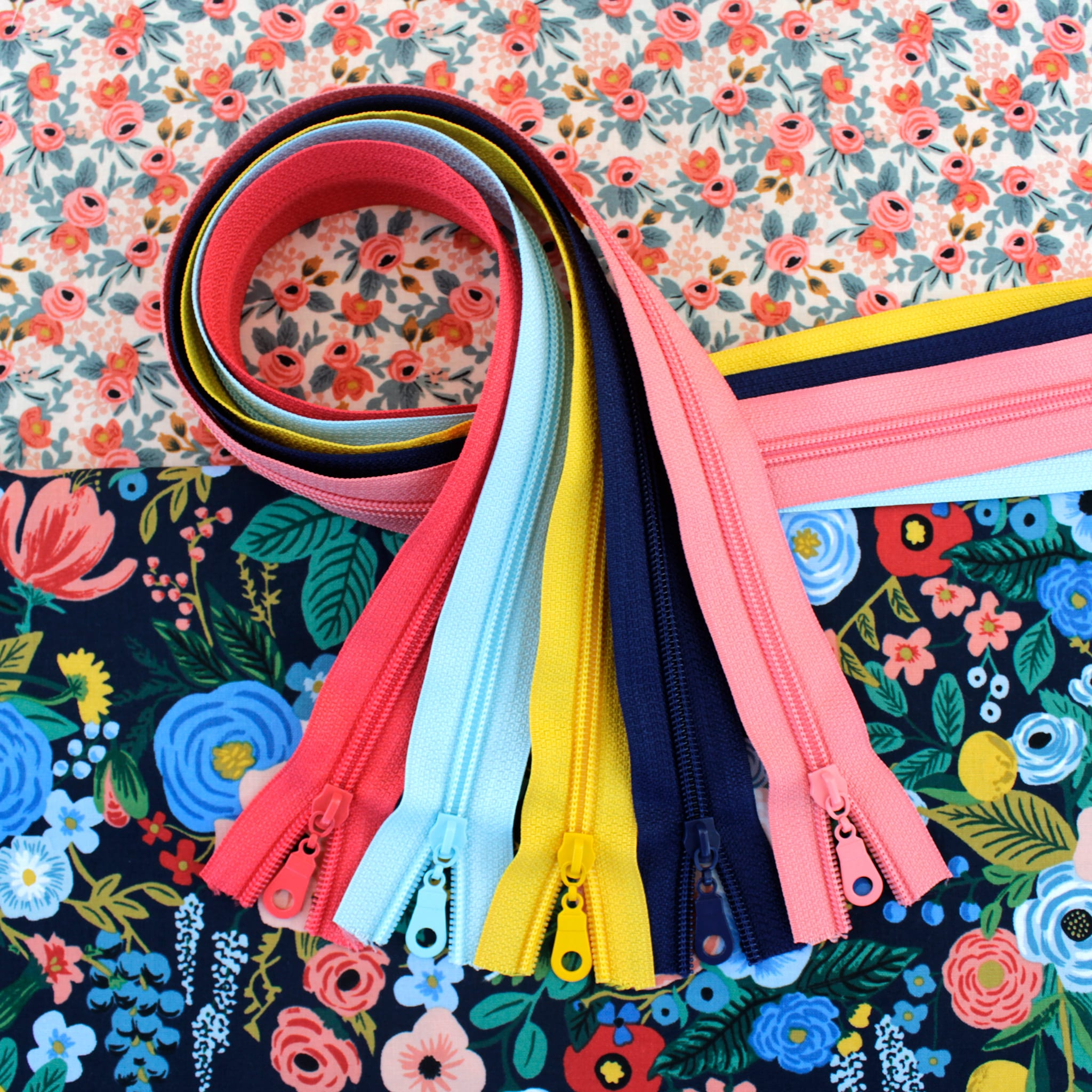 Garden Party Fabric & Zipper Bundle - navy