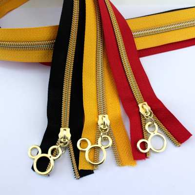 mickey mouse zipper kit gold coil