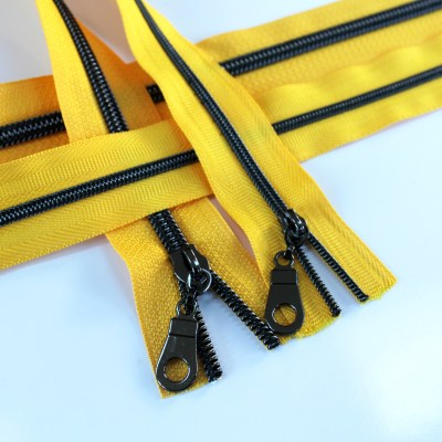 3-5-Nylon-Coil-Zipper-sunflower-yellow-with-gunmetal-teeth
