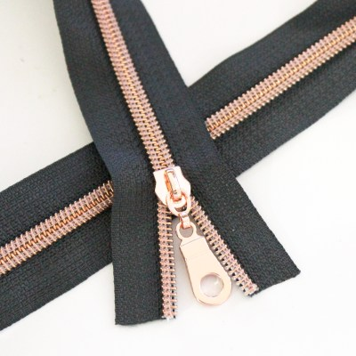 5-Nylon-Coil-Zipper-Charcoal-with-rose-gold-teeth
