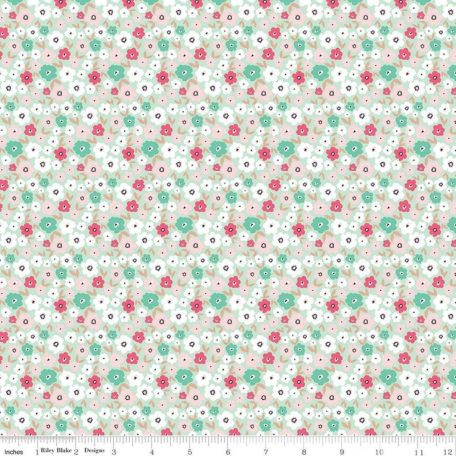 Glam Girl Panel Small Floral Mint Sparkle