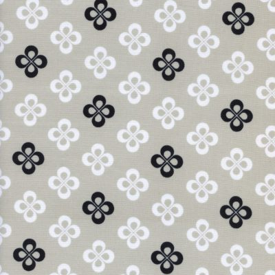 cotton and steel clover fabric