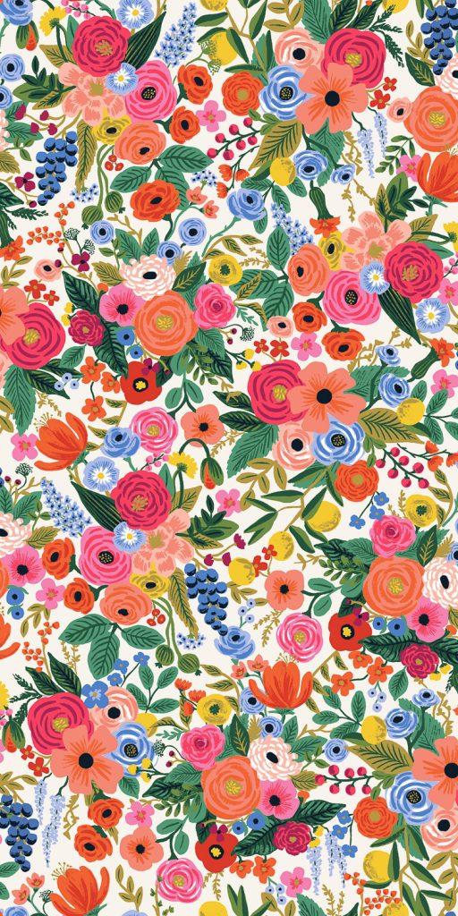 Wildwood - Petite Garden Party - Cream Fabric