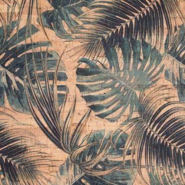 Cork Fabric – Jungle Leaves