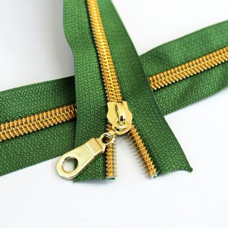 #5-grass-green-zipper-gold-coil