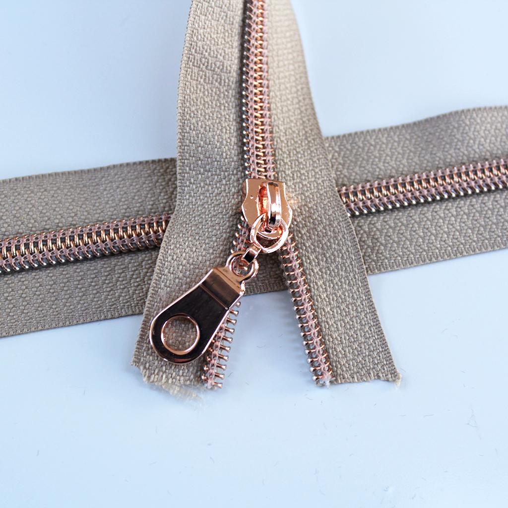 gold zipper cotton Quilted kit pouch