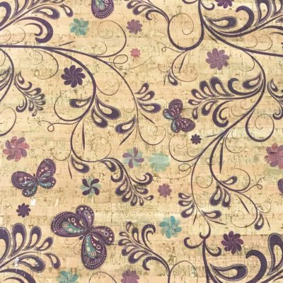 Cork Fabric – Butterfly Garden