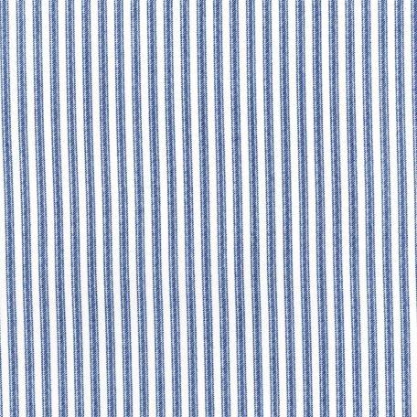 Dots & Stripes - Ticking Away - Blue Jay Fabric
