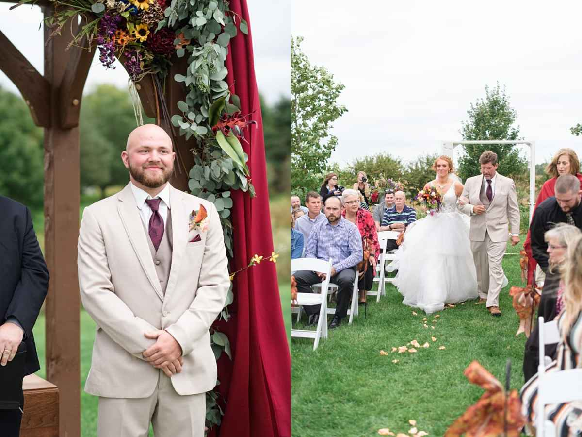 sugar grove wedding ceremony