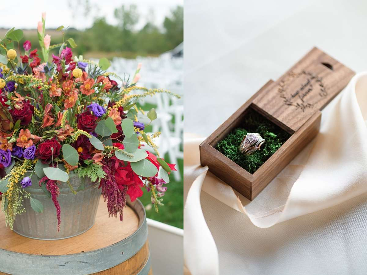 sugar grove fall wedding details