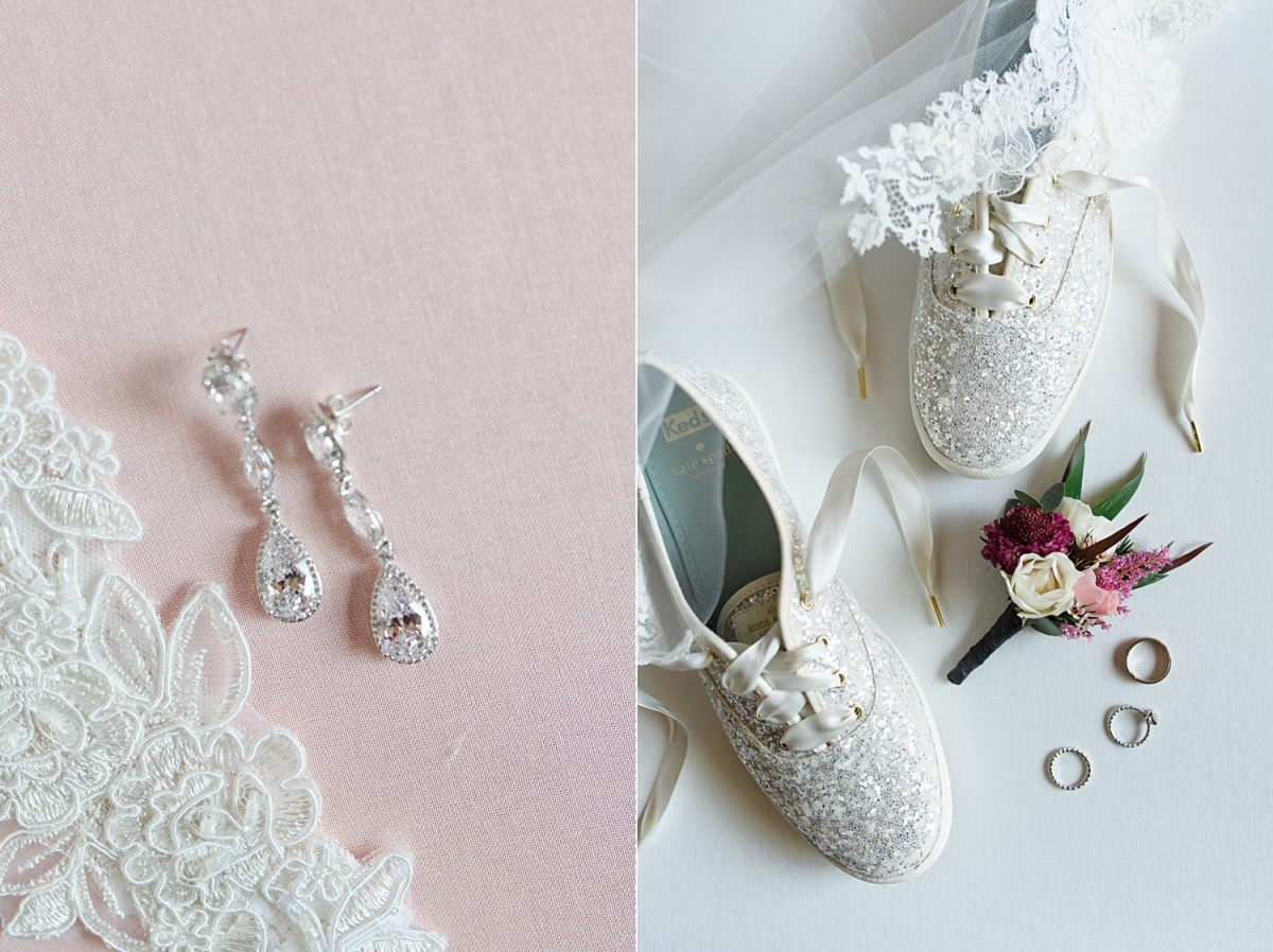 sparkly kate spade keds wedding shoes
