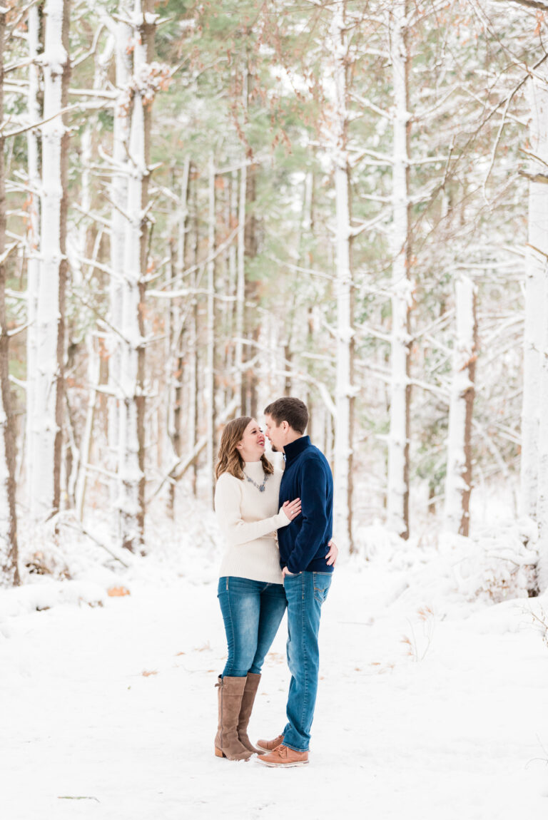 iowa winter engagement session