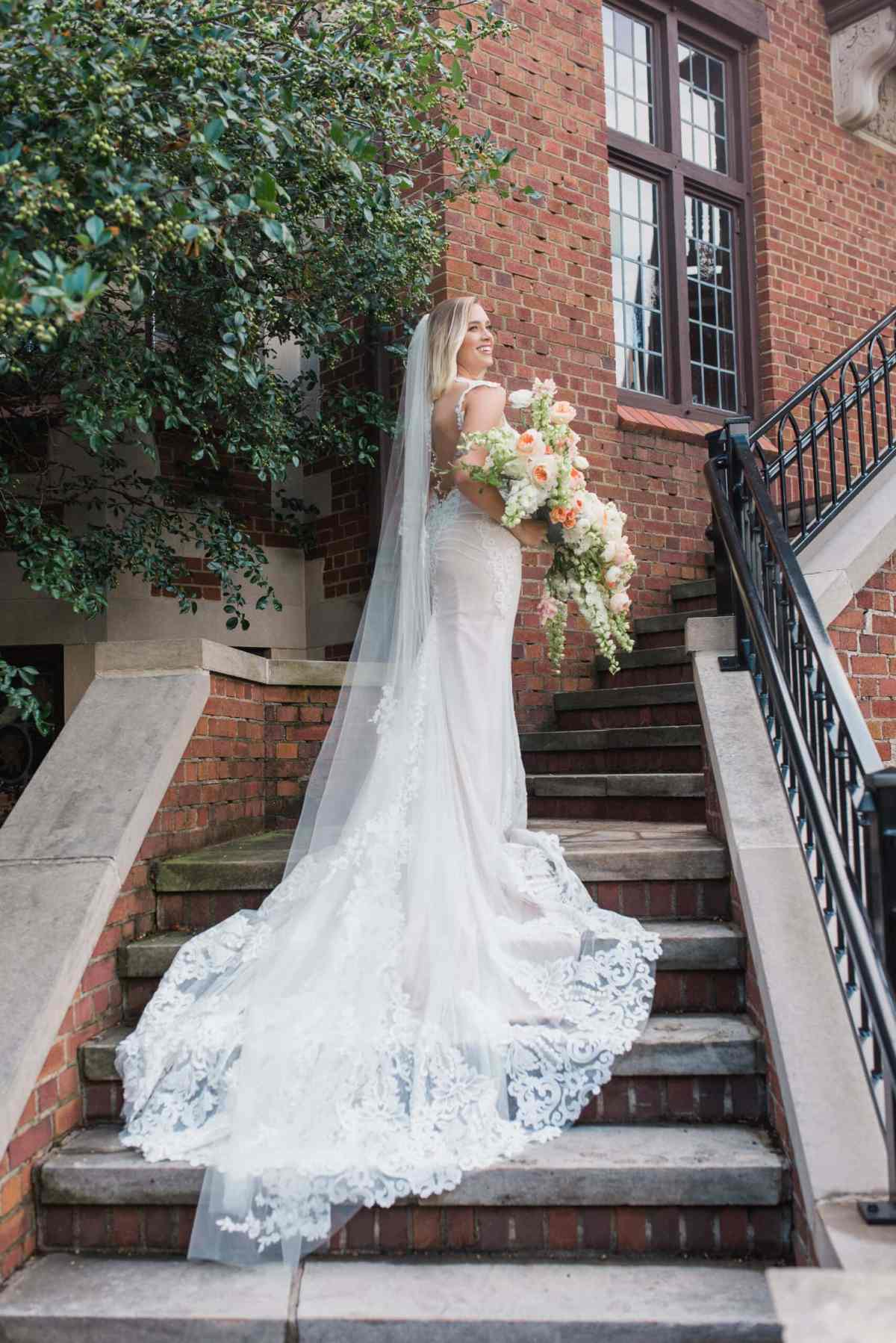 wedding dress at rollins mansion