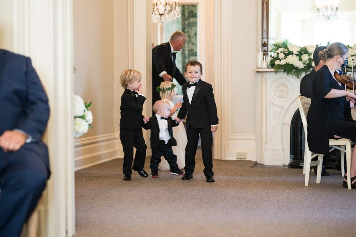 ring bearers and flower girls