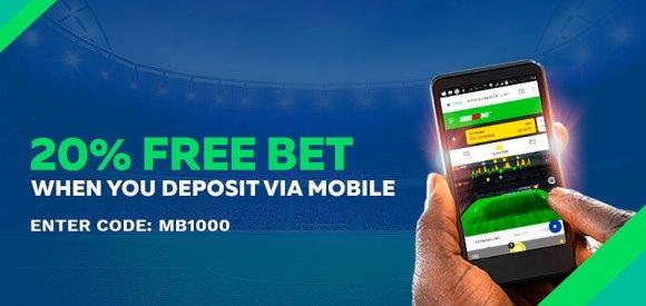 Mobile Deposit Free Bet