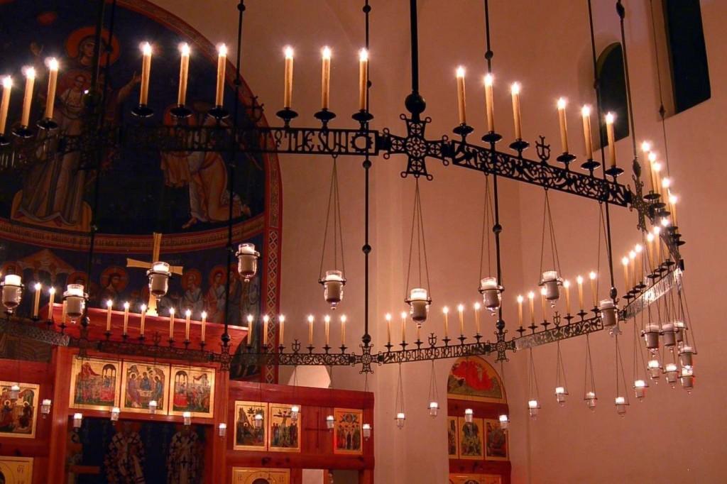 lighting in orthodox churches