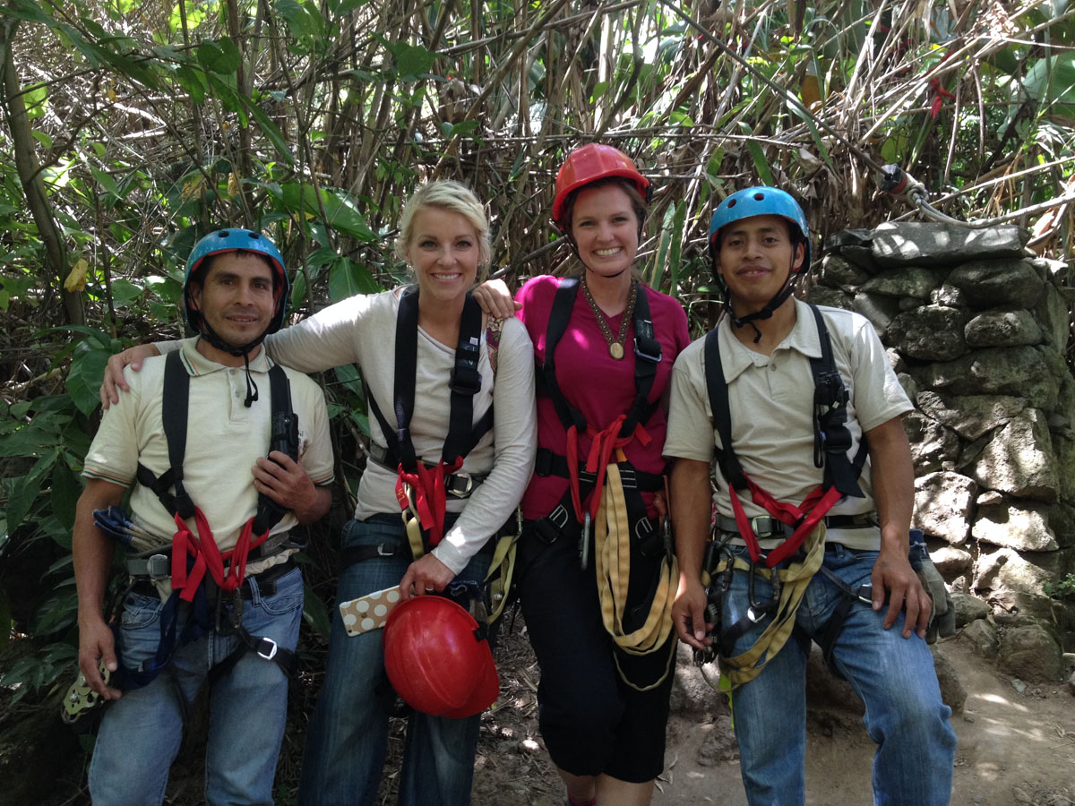 Zip lining in Panajachel, Guatemala