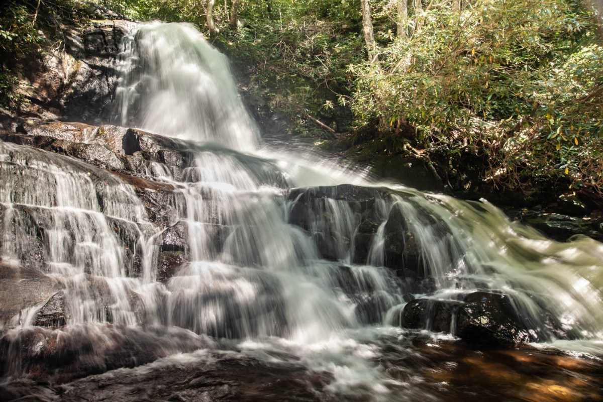 Laurel Falls at Great Smoky Mountain National Park - Best Photo Spots #vezzaniphotography