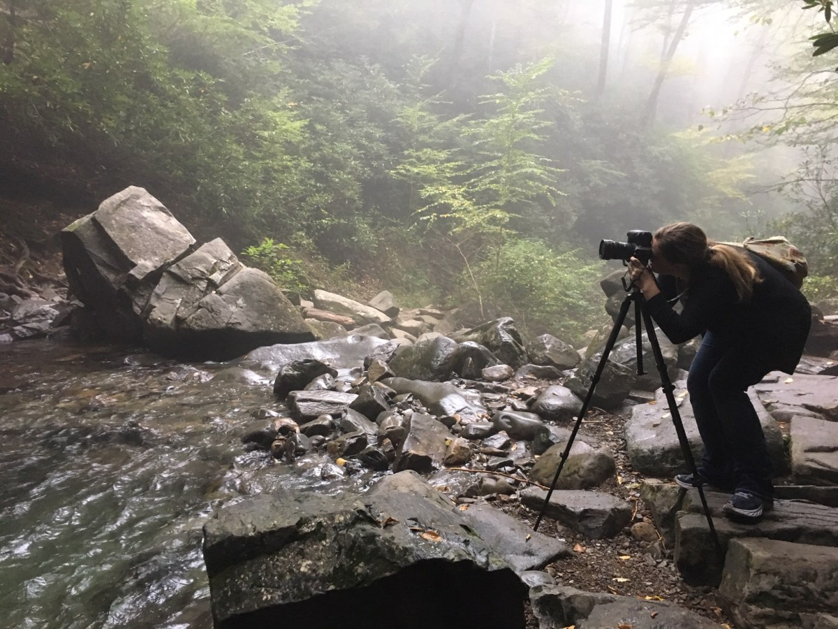 Grotto Falls Hike along the Trillium Gap Trail at Great Smoky Mountains National Park - How to Photograph Silky Waterfalls #vezzaniphotography